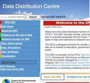 ipcc data web ar4
