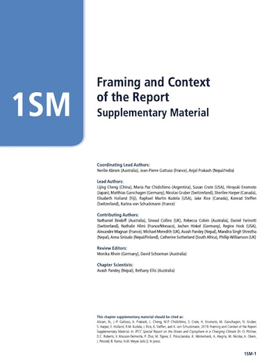 Chapter 1 Framing And Context Of The Report Special Report On The Ocean And Cryosphere In A Changing Climate